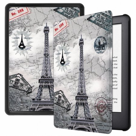 Allytech Folio Case for All-New Amazon Kindle 10th Generation, 2019 Released (NOT for Paperwhite), Ultra Slim Lightweight Full Protection Shockproof Smart Shell Auto Sleep Wake Cover, Eiffel (Best Budget Full Tower Case 2019)