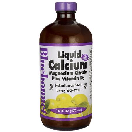 Bluebonnet Liquid Calcium Magnesium Citrate, Lemon, 16 FL