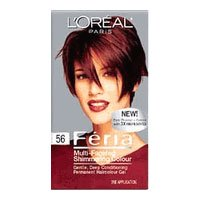 Loreal Feria Multi Faceted Shimmering Haircolor 56 Brilliant Bordeaux Auburn Brown 1 Ea