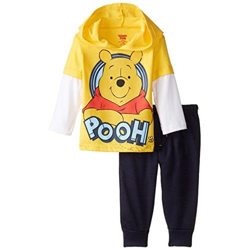 Disney Baby Boys' Winnie The Pooh Jogger Fleece Pant Set with Jersey