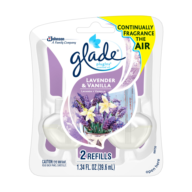 Glade Plug In Refill, Lavender & Vanilla, 1.34 Fl. Oz. (Pack of 2)