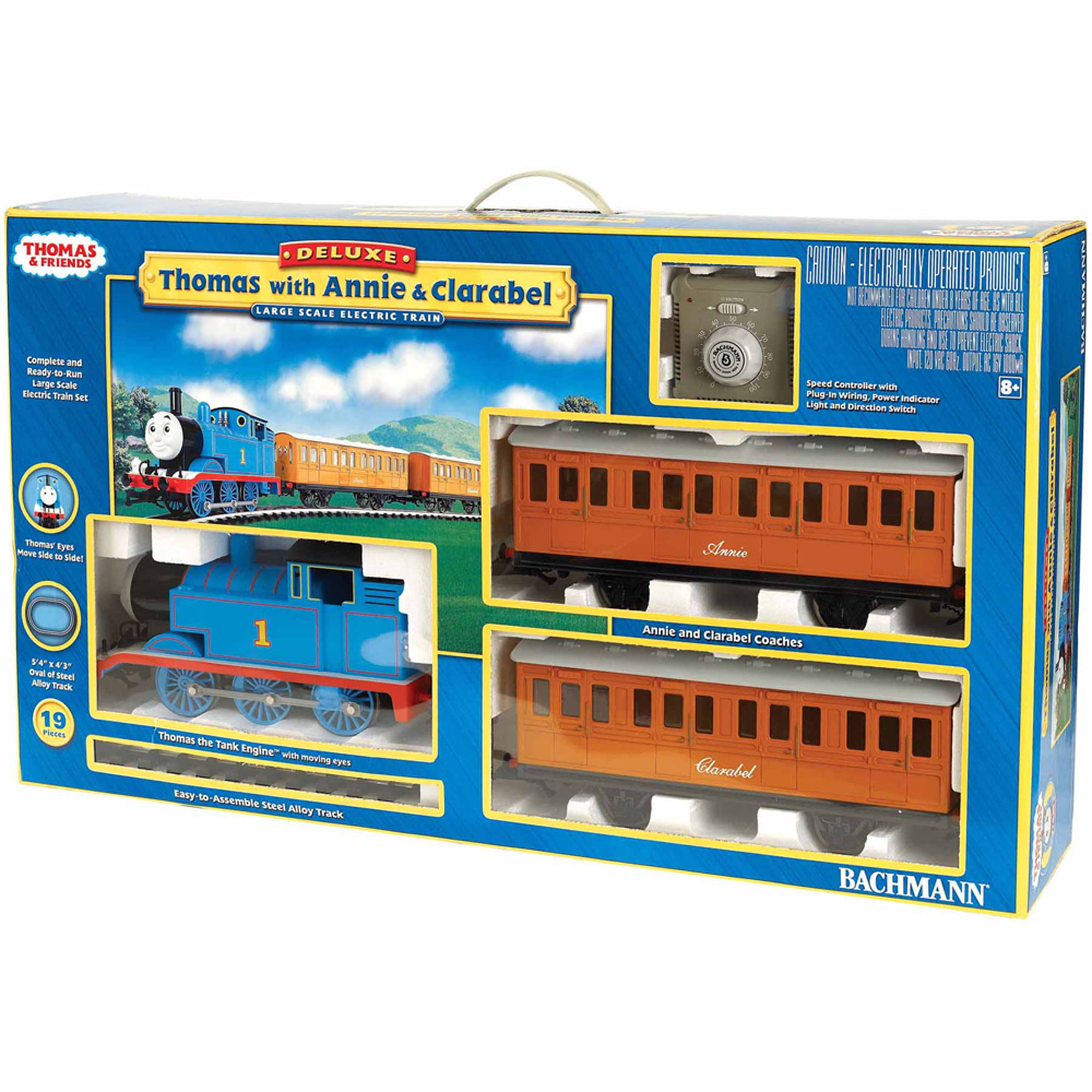 "Bachmann Trains Thomas and Friends Thomas with Annie and Clarabel, Large ""G"" Scale Ready-to-Run... by Bachmann Trains"