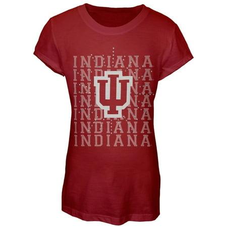 Indiana Hoosiers - Rhinestone Ray Girls Youth T-Shirt