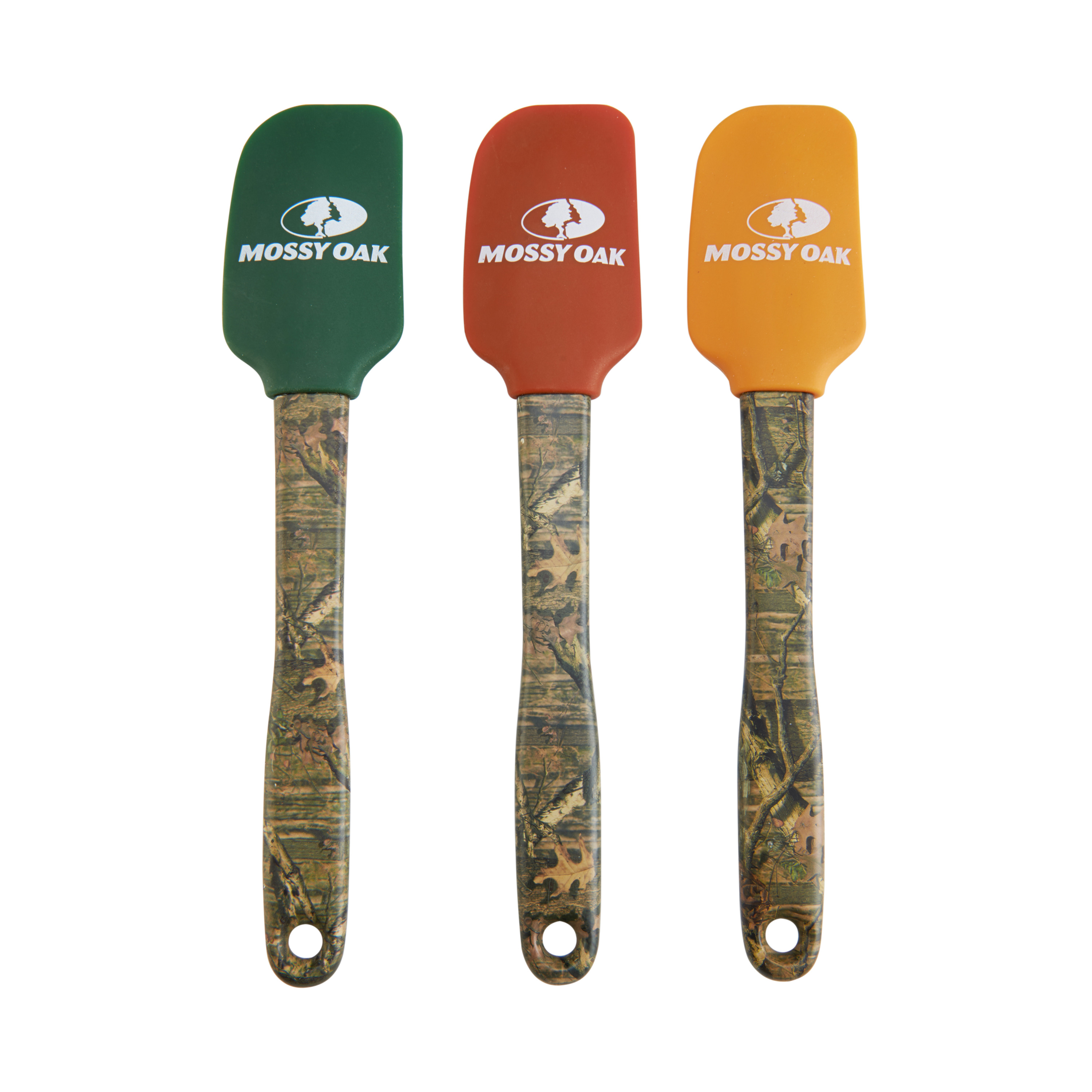 Mossy Oak Brown Camouflage Handled Silicone Spatula
