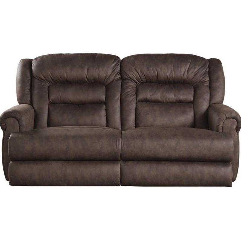 Catnapper Atlas Extra Tall Power Reclining Fabric Sofa in Sable