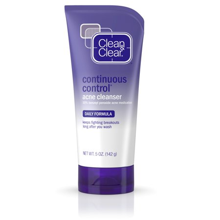 (2 pack) Clean & Clear Continuous Control Daily Acne Face Wash, 5 oz