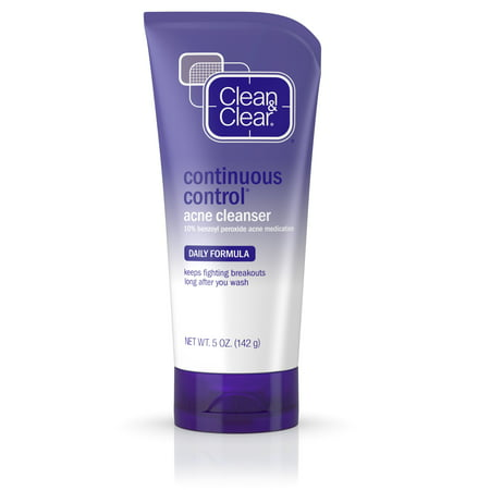 (2 pack) Clean & Clear Continuous Control Daily Acne Face Wash, 5 (Best Face Wash For Mature Acne Prone Skin)