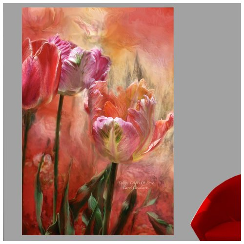 Red Barrel Studio 'Tulips-Colors Of Love' Graphic Art Print Poster
