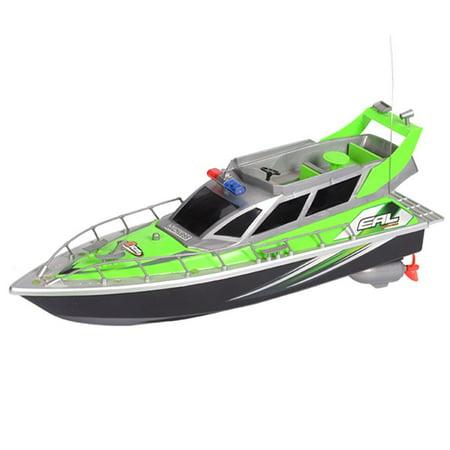 RC Patrol Boat High Speed Radio Controlled Ship Watercraft - Green (Gift Idea)