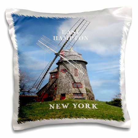 3dRose Windmill In Famous East Hampton long Island New York - Pillow Case, 16 by