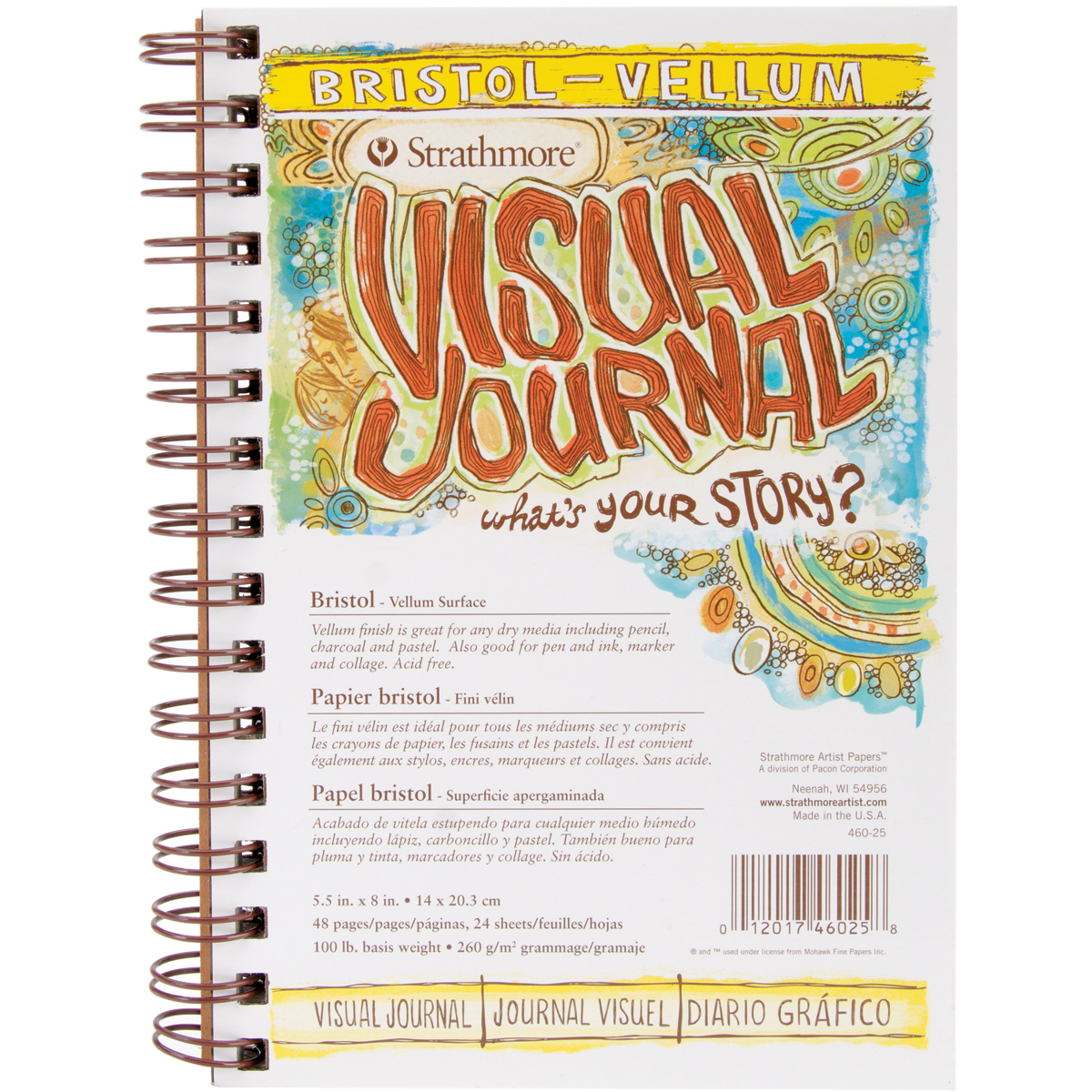 "Strathmore Bristol Vellum Journal, 5-1/2"" x 8"""