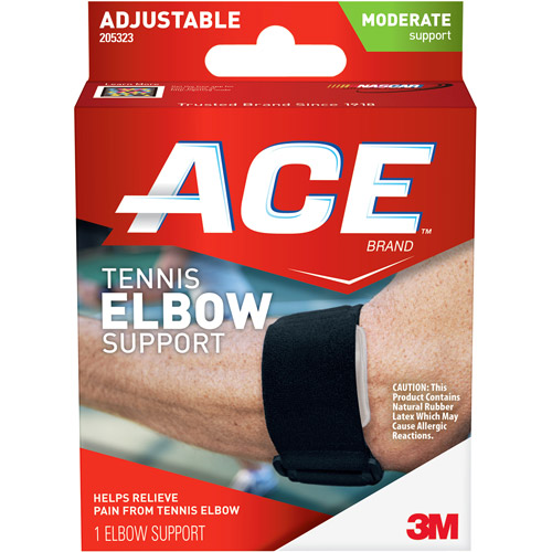 ACE Tennis Elbow Support, One Size Adjustable, 205323