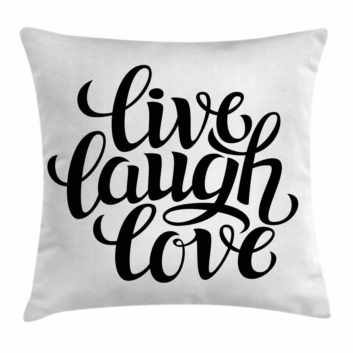 Live Laugh Love Decor Throw Pillow Cushion Cover Simplistic Inspiration Quote Minimalist Featured Typography Design Decorative Square Accent Pillow Case 18 X 18 Inches Black White By Ambesonne Walmart Com Walmart Com