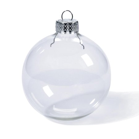 Clear Glass Ornaments: 80mm Glass Balls, 4 pack