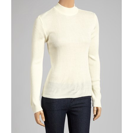 Lurex Mock Neck Sweater (Ribbed Mock Neck Acrylic Sweater (Style# 1905) )