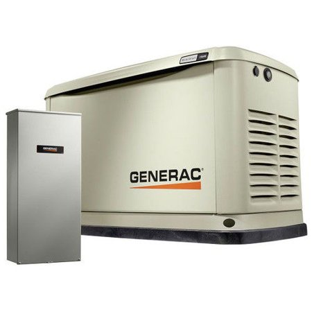 Generac Guardian Series 11/10kW Air-Cooled Standby Generator with Wi-Fi, Alum Enclosure, 200SE (not CUL) (1) - - Guardian Generator