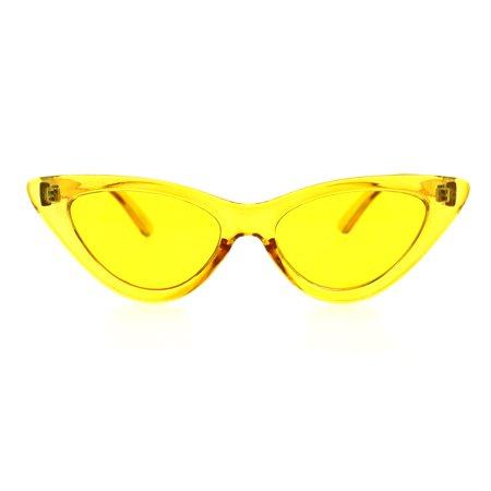 Womens Pop Color Retro Mod Cat Eye Goth Sunglasses Yellow