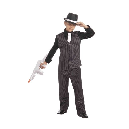Boys 20's Lil'Gangster Costume - 20s Gangster Halloween Costume