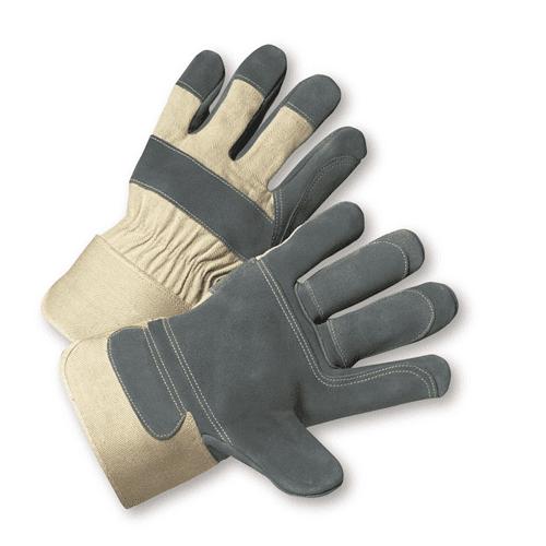 Large Premium Split Cowhide Leather Double Palm Gloves Dozen