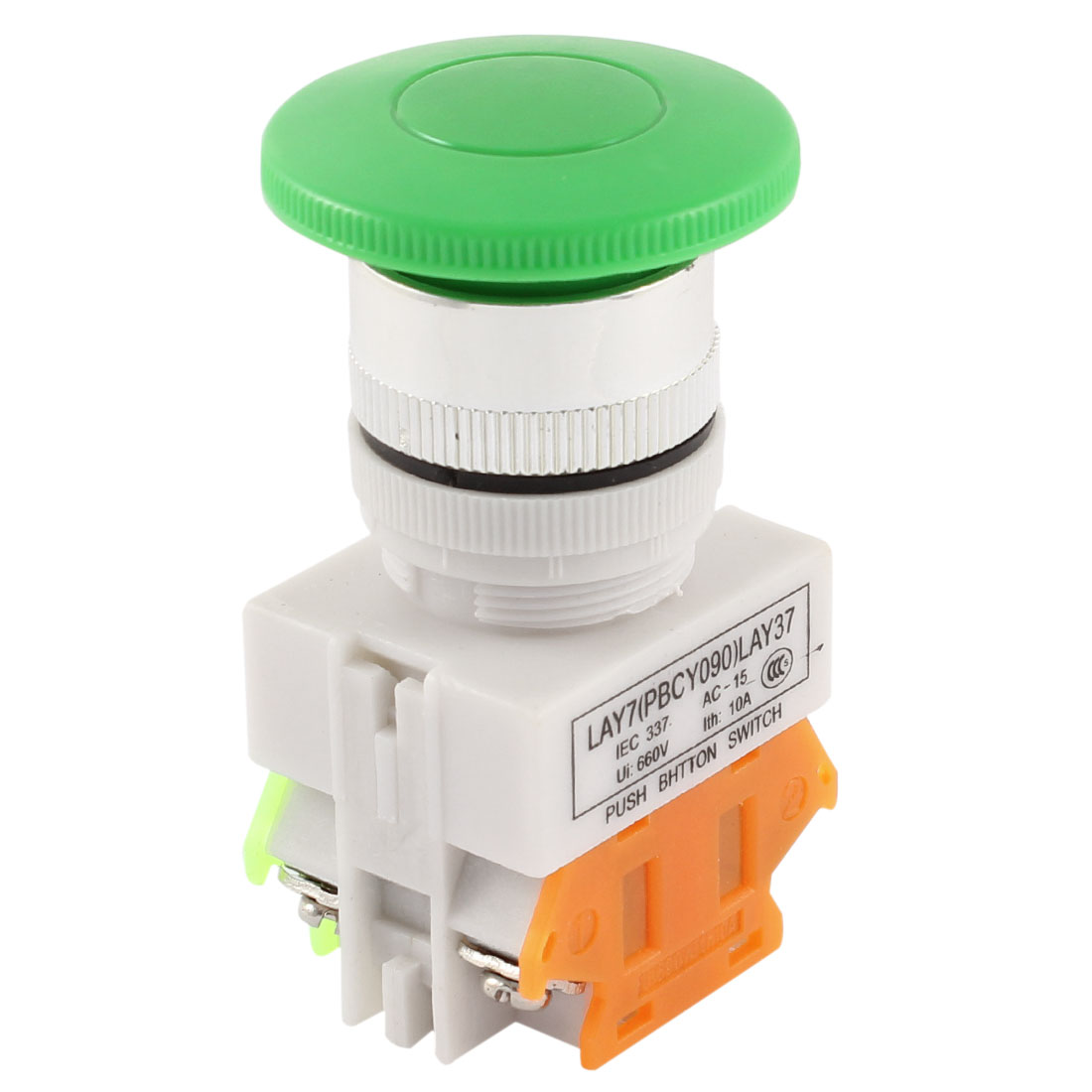 660V 10A 23mm Dia Threaded Mushroom Head Momentary Push Button Switch - image 3 of 3