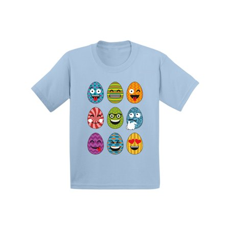 Awkward Styles Easter Eggs Emoji Toddler Shirt Easter T Shirt Kids Funny Easter Gifts Easter Emoji Tshirt Easter Holiday Party Outfit Easter Egg Tshirt Easter Egg Hunt Shirt Hunting Season Shirt](Kids Holiday Clothing)