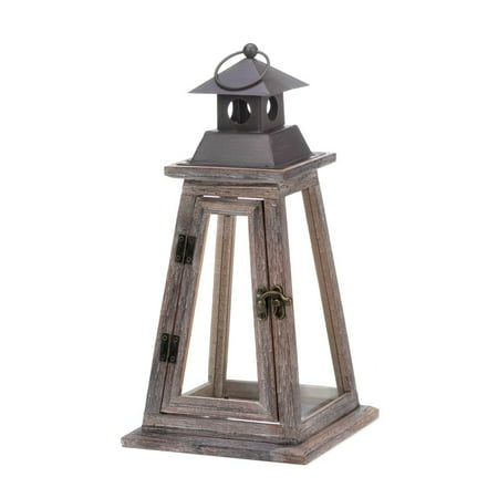 Wooden Candle Lantern, Outdoor Rustic Candle Lanterns Holder Decor