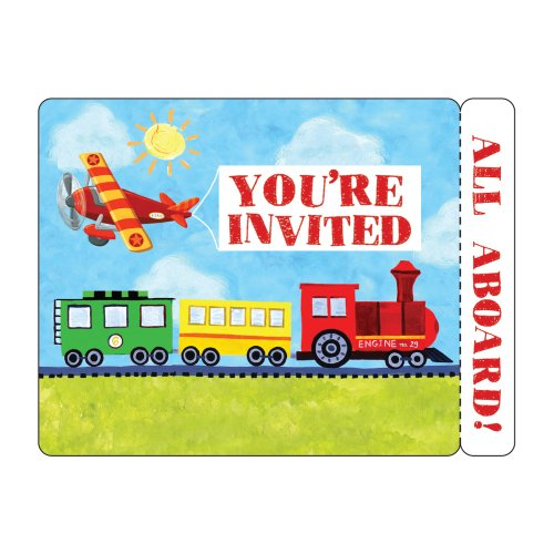 Creative Converting On-The-Go 8 Count Postcard Party Invitations