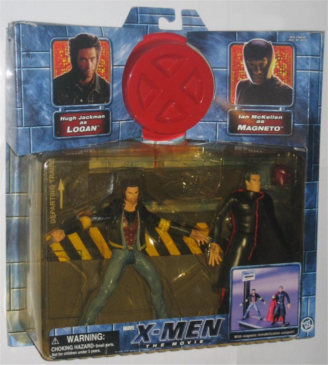 Marvel X-Men The Movie Wolverine Logan vs Magneto Figure Set (Toy Biz) by Toy Biz