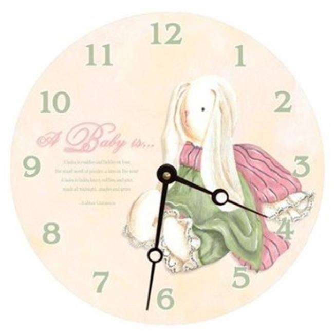 Lexington Studios 23073R Baby Bunny Round Clock by Lexington Studios