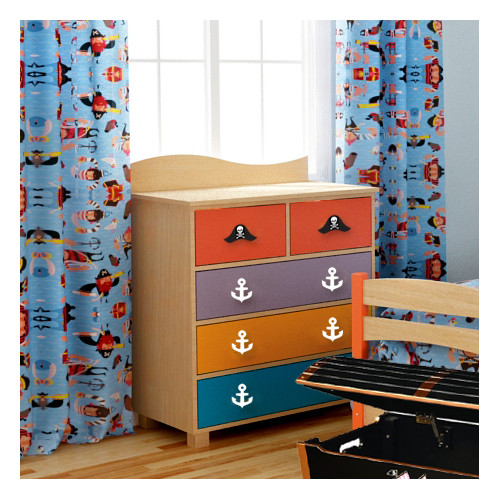 Room Magic Pirate Pals Cotton Rod Pocket Curtain Panels  (Set of 2)