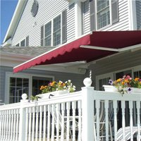 AWM16X10BURG-37-UNB 16 x 10 ft. Retractable Outdoor Motorized Patio Awning, Burgundy