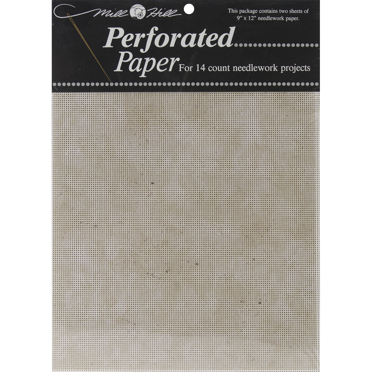"Stylized Perforated Paper 14 Count 9""X12"" 2/Pkg-Natural Granite"