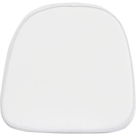 Flash Furniture Kids Soft White Fabric Chiavari Chair Cushion ()