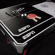 ESPN 72 Inch Air Powered Hockey Table with Table Tennis Top & In-Rail  Scorer, Includes Paddle and Ping Pong Balls, Pushers and Pucks, 6 Ft, Black  &