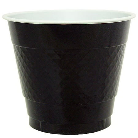 Plastic Trophy Cups - Hanna K Plastic Cups, 9 Oz, BlacK , 50 Ct