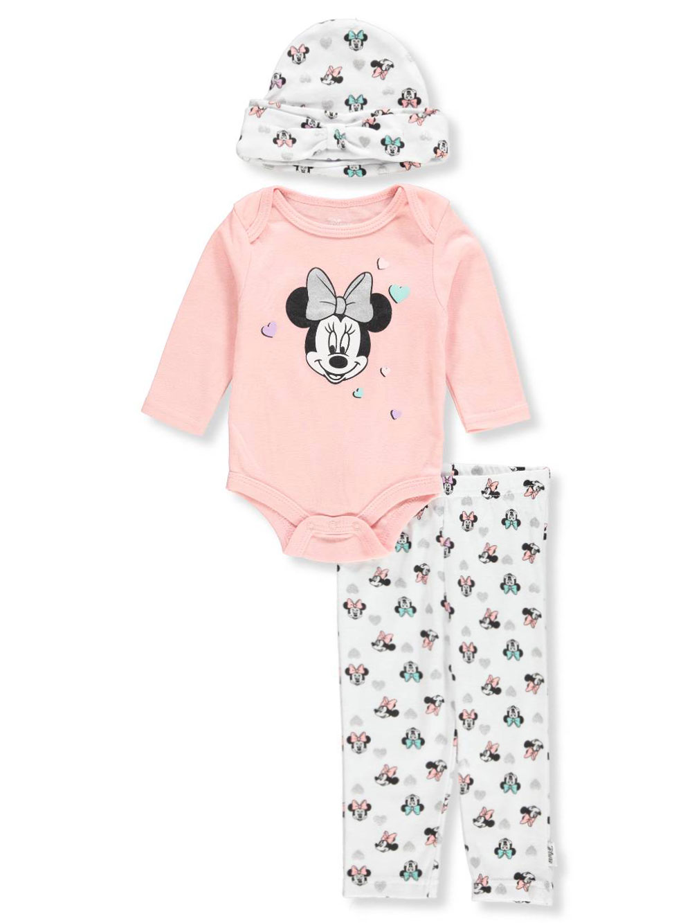 Disney Minnie Mouse Baby Girls' 3-Piece Layette Set