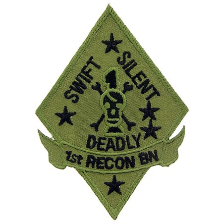 U.S.M.C. 1st Recon Battalion Patch Green - 1st Recon Battalion