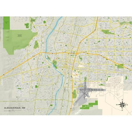 Political Map of Albuquerque, NM Print Wall Art](Party City Albuquerque Nm)