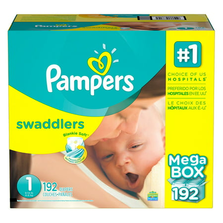 Diaper Covers Free Shipping (Pampers' Swaddlers Diapers Size 1 - 192 ct. ( Weight 8- 14 lb.) - Bulk Qty, Free Shipping - Comfortable, Soft, No leaking & Good nite Diapers )