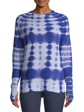 Time and Tru Ladies Long Sleeve Tie Dye Pullover Sweater