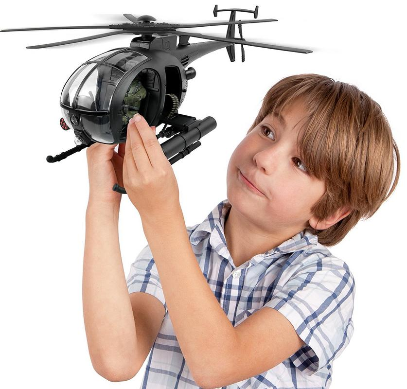Click N' Play Military Attack Combat Helicopter 20 Piece Play Set with Accesso