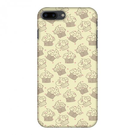 iPhone 8 Plus Case - Muffins, Hard Plastic Back Cover. Slim Profile Cute Printed Designer Snap on Case with Screen Cleaning