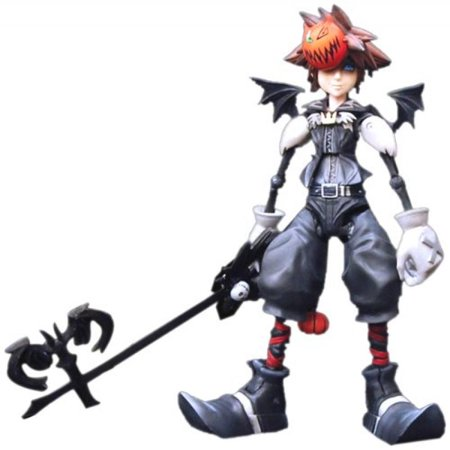 Disney Square-Enix Kingdom Hearts 2 Play Arts Action Figure Sora (Halloween Town) - Kingdom Hearts Halloween Town Voice Actors