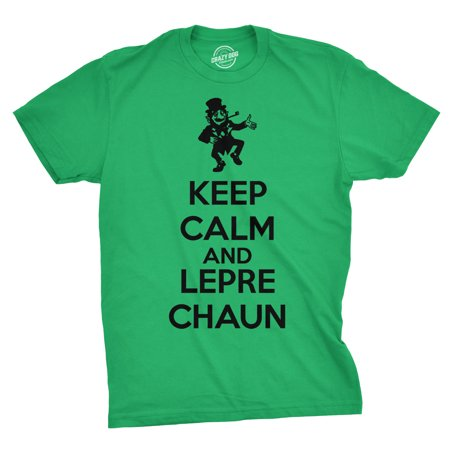 Keep Calm And Leprechaun T Shirt Funny KCCO St Patricks Day Tee For Paddys Day