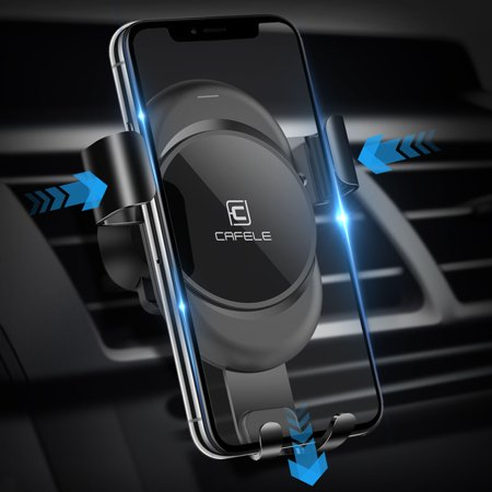 Car Phone Mount, EEEKit Universal Auto-Clamping Car Gravity Phone Mount Holder Air Vent Outlet Cradle Stand for iPhone XS XS Max X 8, Samsung Galaxy S10 S10E S9 S9 Plus and