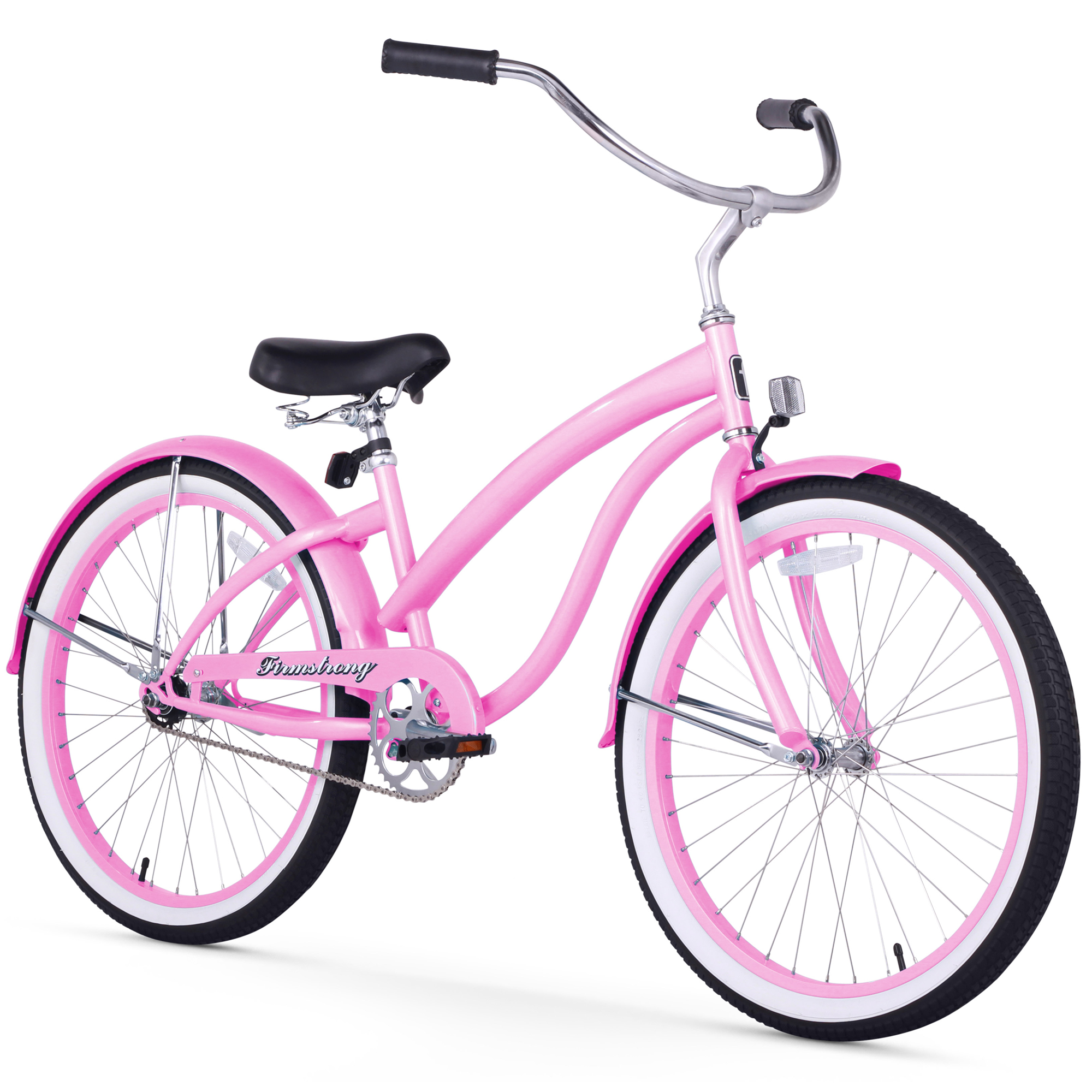 "Firmstrong 24"" Women's Bella Classic Beach Cruiser Bicycle, 1 and 3 Speed"