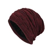 Men's Boys Knitted Beanie Hats Winter Warm Ski Baggy Slouch Outdoor Plain Caps