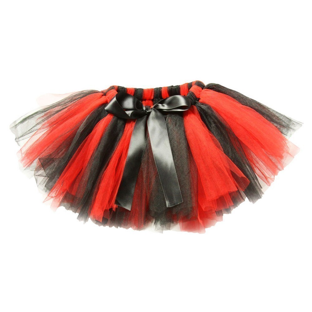 Dress Up Dreams Boutique Little Girls Red Black Super Fluffy Tutu Skirt 1 - 4T