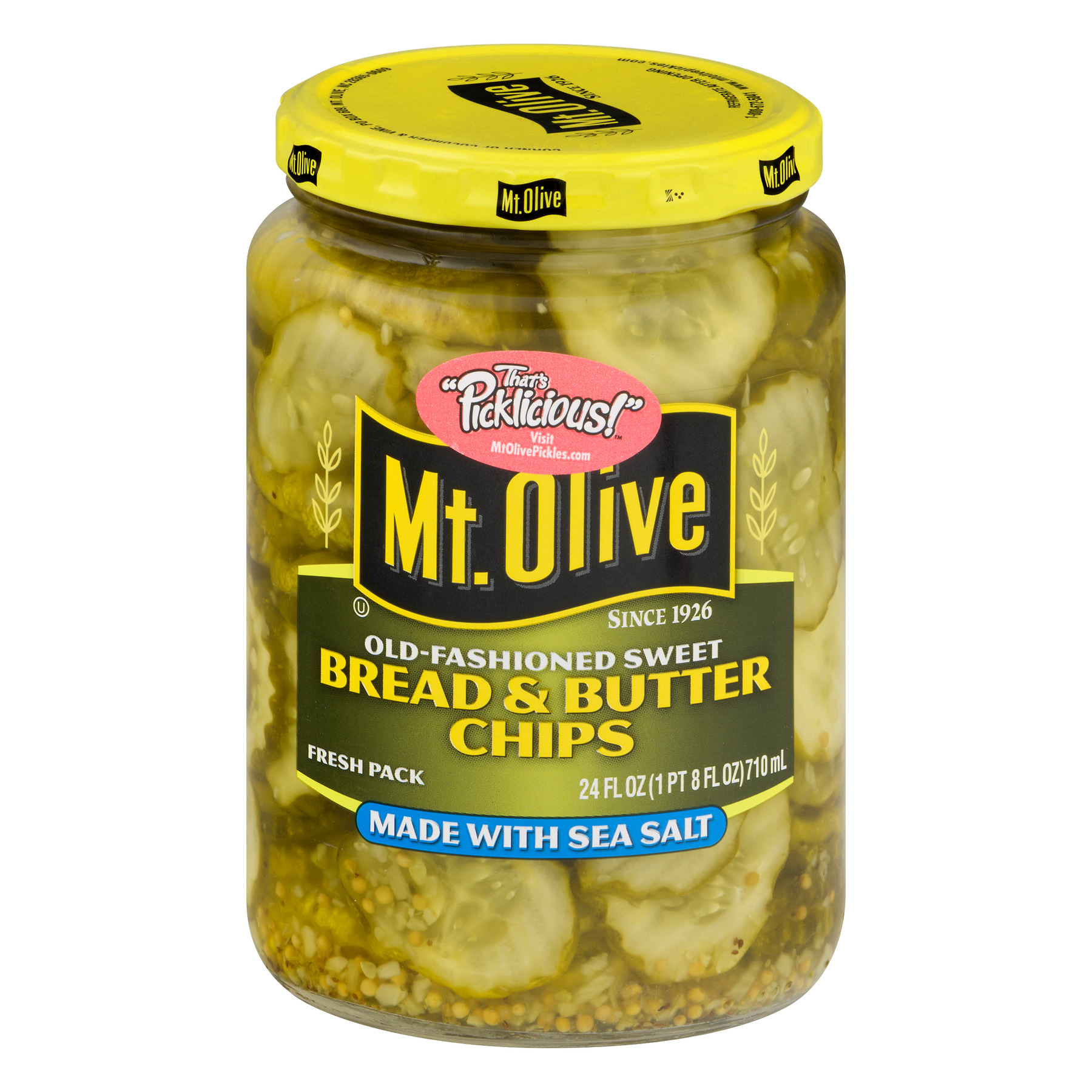 Mt. Olive Old-Fashioned Sweet Bread & Butter Chips, 24 oz