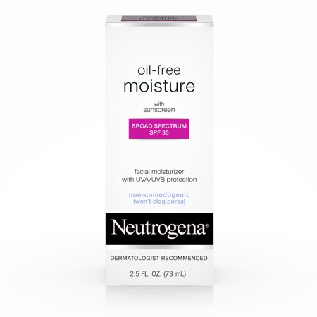 Neutrogena Oil Free Facial Moisturizer SPF 35 Sunscreen, 2.5 fl. oz